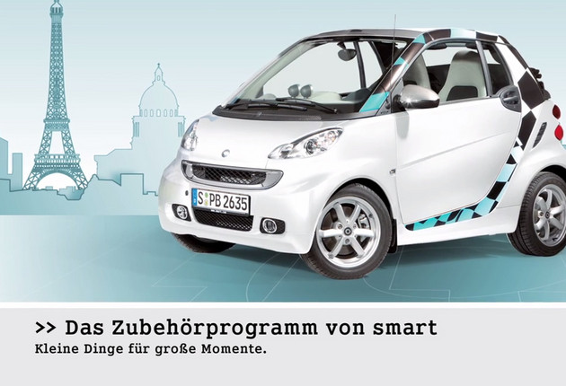 Smart Fortwo Accessories Motion Design Film für den Point of Sale - Farbe