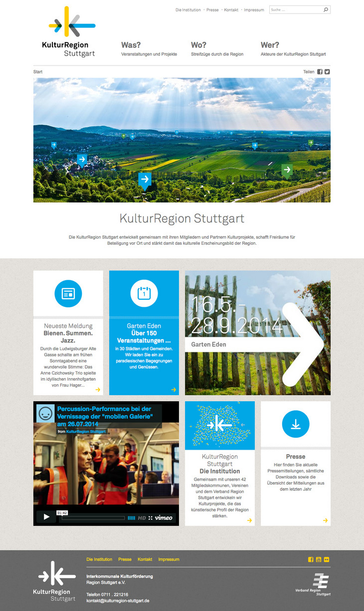 KulturRegion Stuttgart Responsive Design Website